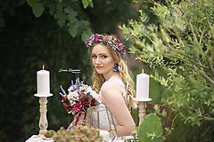 Ozdoby do vlasov - Boho kvetinový venček - 9826095_