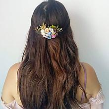 """Ozdoby do vlasov - Kvetinový hrebienok """"Laura"""" - 9823999_"""