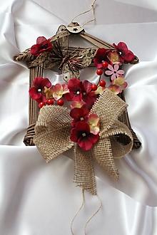 Dekorácie - Jesenný domček na dvere