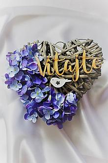 """Dekorácie - Jesenné srdce na dvere levanduľové """"Vitajte"""" - 9824612_"""