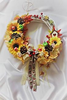 Dekorácie - Jesenný venček na dvere