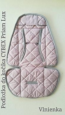 Textil - Podložka do kočíka CYBEX Priam lux proti poteniu 100 %merino top super wash - 9824071_