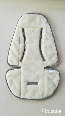 Textil - Podložka do kočíka CYBEX Priam lux proti poteniu 100 %merino top super wash obojstranná - 9824910_