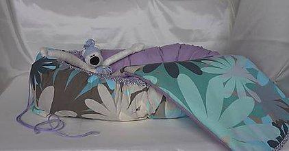 Textil - Hniezdo pre bábätko Nr.623 Kvety s fialovou - 9823879_