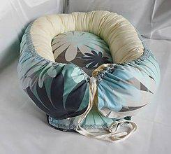 Textil - Hniezdo pre bábätko Nr.624 Kvety so žltou - 9823928_