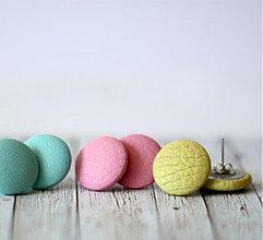 Náušnice - Letné zmrzlinové náušnice 19mm potiahnuté koženkou veľa farieb na výber (malinova pena) - 9824827_