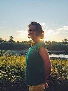 Náhrdelníky - Náhrdelník Slnkom prepletený - 9825683_