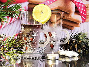 Kytice pre nevestu - Vianočný sklenený hrnček - 9825002_