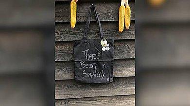 Nákupné tašky - ♥ Plátená, ručne maľovaná taška ♥ - 9824804_