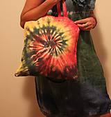 Batikovaná nákupná taška Špirála
