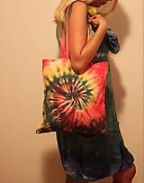 Nákupné tašky - Batikovaná nákupná taška Špirála - 9825702_