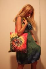 Nákupné tašky - Batikovaná nákupná taška Špirála - 9825703_