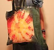 Nákupné tašky - Batikovaná nákupná taška Slnko - 9825756_