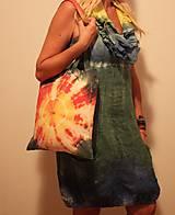 Nákupné tašky - Batikovaná nákupná taška Slnko - 9825764_