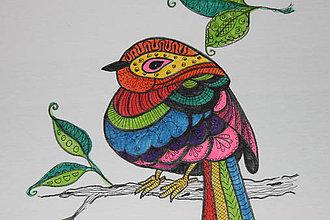Tričká - Veselý vtáčik na tričku - 9825309_