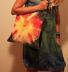 Nákupné tašky - Batikovaná nákupná taška Slnko - 9825766_