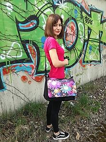 """Veľké tašky - Originálna taška cez rameno """"GERBERA"""" - 9824134_"""