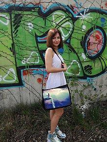 """Veľké tašky - Originálna taška cez rameno """"VODOPÁD"""" - 9824222_"""