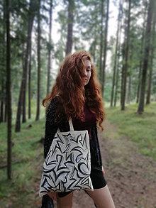 Nákupné tašky - Ručne maľovaná taška, abstrakt - 9825160_