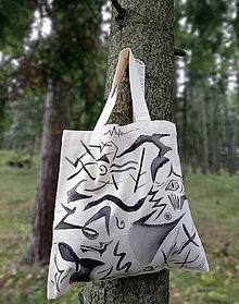 Nákupné tašky - Ručne maľovaná taška, abstrakt - 9825285_