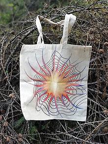 Nákupné tašky - Ručne maľovaná taška, hviezda - 9825313_