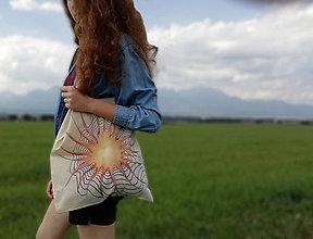 Nákupné tašky - Ručne maľovaná taška, hviezda - 9825322_