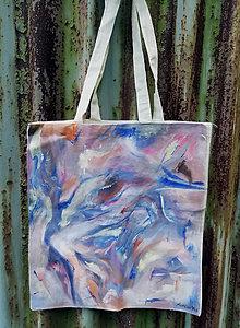 Nákupné tašky - Ručne maľovaná taška, kompozícia - 9825345_