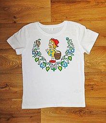 Detské oblečenie - Detské maľované tričko karkulka - 9823669_