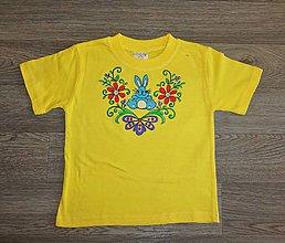 Detské oblečenie - Detské maľované tričko zajko - 9823766_