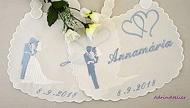 Iné doplnky - svadobné podbradníky vyšívané - 9824864_
