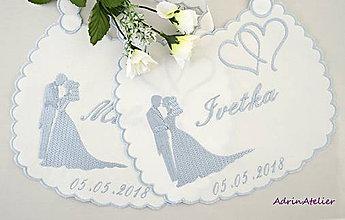 Iné doplnky - svadobné podbradníky vyšívané - 9824869_