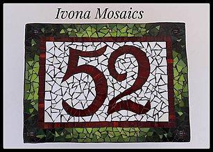 Tabuľky - Mozaikové číslo domu zeleno-červené - 9826028_