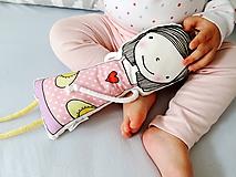 Hračky - Bábika v ružových šatách - 9826009_