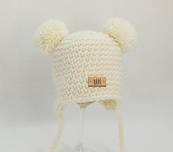 Detské čiapky - Maslová zimná detská čiapka macko - 9825283_