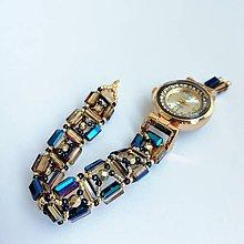 Náramky - Elegantné korálkové hodinky III - 9823464_