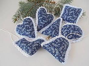 Dekorácie - Vianočné ozdoby folk  z modrotlače - 9823821_