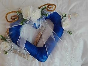 Dekorácie - Svadobná dekorácia v modrom - 9827678_