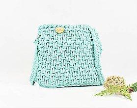Kabelky - Crossbody kabelka háčkovaná Mint - 9828562_
