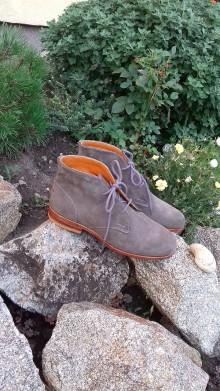 Obuv - Hand made pánské topánky z semiš kože - 9828673_