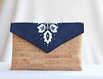 Korková listová kabelka folk