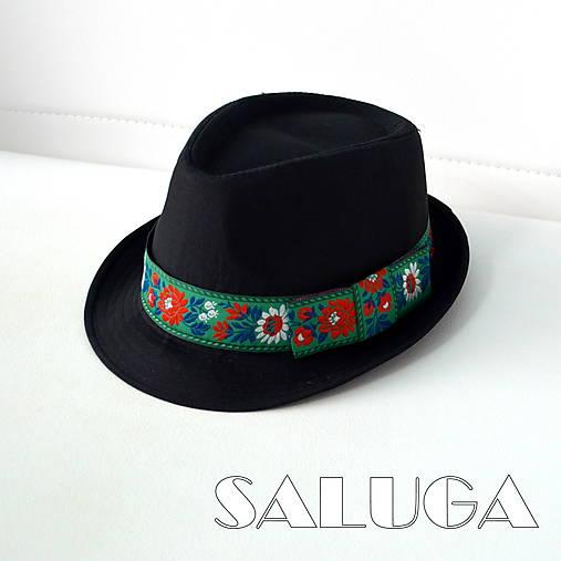 e5d9e2a6d Folklórny klobúk - čierny - ľudový - zelený / SALUGA - SAShE.sk ...