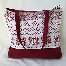 Kabelky - Veľká kabelka biele čičmany - 9828579_
