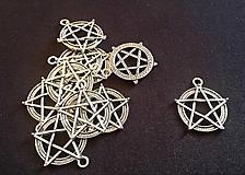 Komponenty - Prívesok Pentagram 30x25mm - 9827448_