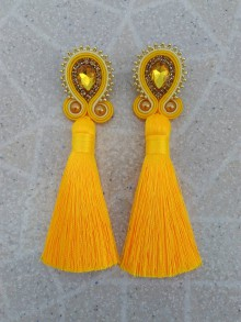 Náušnice - Sujtášové náušnice so strapcami