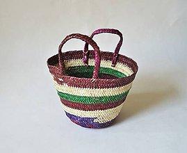 Košíky - Finálny Výpredaj! Pletený palmový kôš ZULU - 9828118_