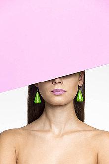 Náušnice - Náušnice kyštály zelené - z recyklovaného plastu - 9828841_