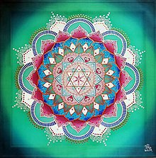 Obrazy - Mandala lásky, zdravia a hojného požehnania - 9827614_