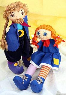 Hračky - Rozprávka. Pippi a jej ocko Efraim -babkove divadielko. - 9826948_