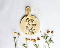 Pomôcky - Drevený lopár - Echinacea - 9827722_