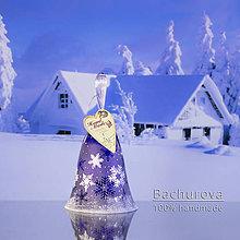 Kytice pre nevestu - Vianočný sklenený zvonček - 9828157_